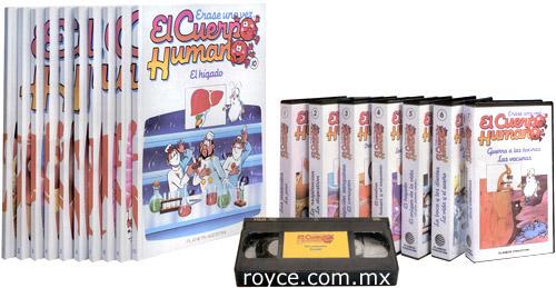 Érase una vez el Cuerpo Humano 10 Vols con 5 DVDs y 7 Videos VHS